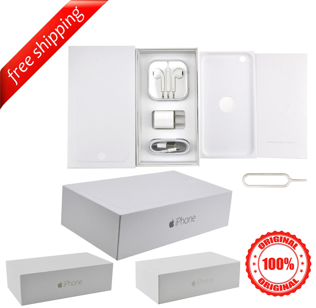 Original Packaging Box + Original Full Accessories + Label Sticker For iPhone 6