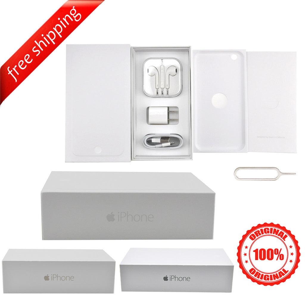 Original Packaging Box + Original Full Accessories + Label Sticker For iPhone 6 Plus