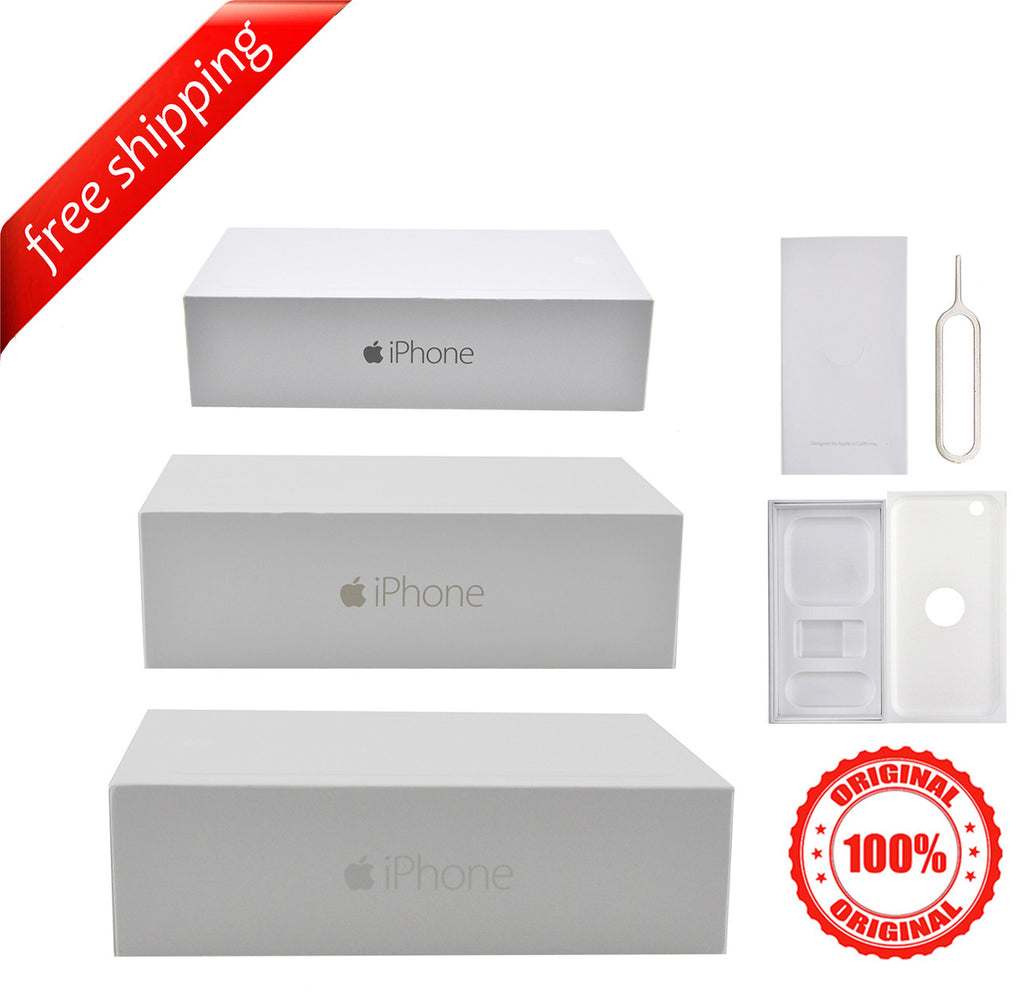 Original Retail Packaging Box + Label Sticker For iPhone 6 Plus