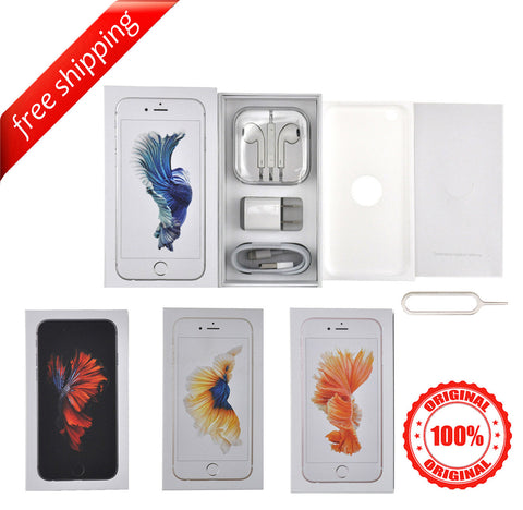 Original Packaging Box + Original Full Accessories + Label Sticker For iPhone 6s