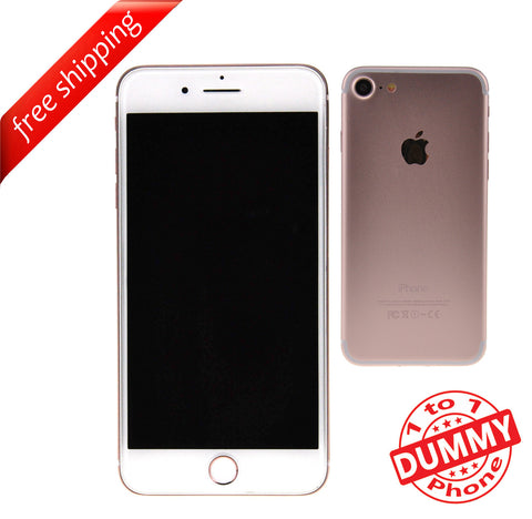 1:1 Non Working Dummy Shop Display Toy Mobile Phone For iPhone 7 - Rose Gold