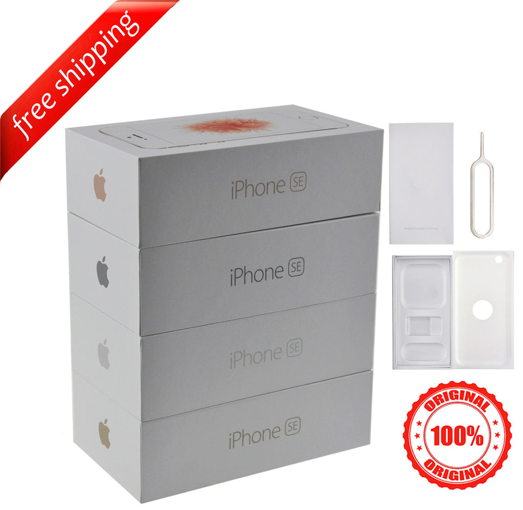 Original Retail Packaging Box + Label Sticker for iPhone SE