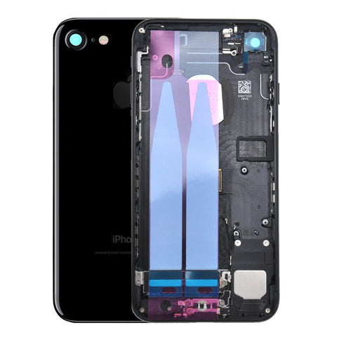 Back Housing Replacement Battery Case Cover Rear Frame with Spare Parts For iPhone 7 - Jet Black