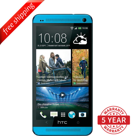 Original HTC ONE M7 32GB 4G LTE Factory Unlocked Blue (32GB) - Refurbished
