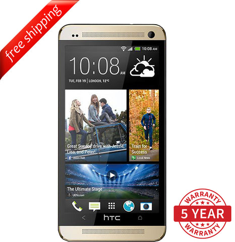Original HTC ONE M7 4G LTE Factory Unlocked Gold ( 32GB ) - Refurbished