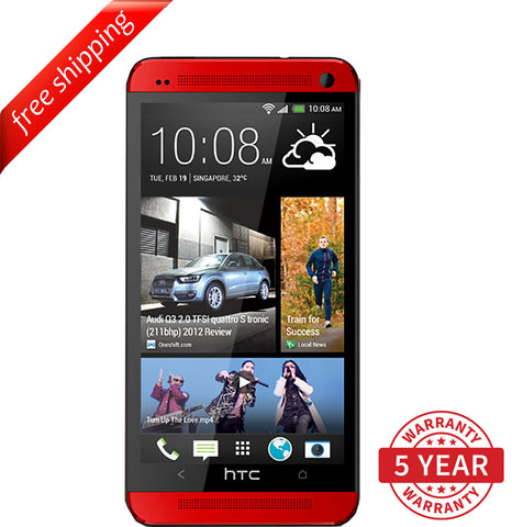 Original HTC ONE M7 4G LTE Factory Unlocked Red ( 32GB ) - Refurbished