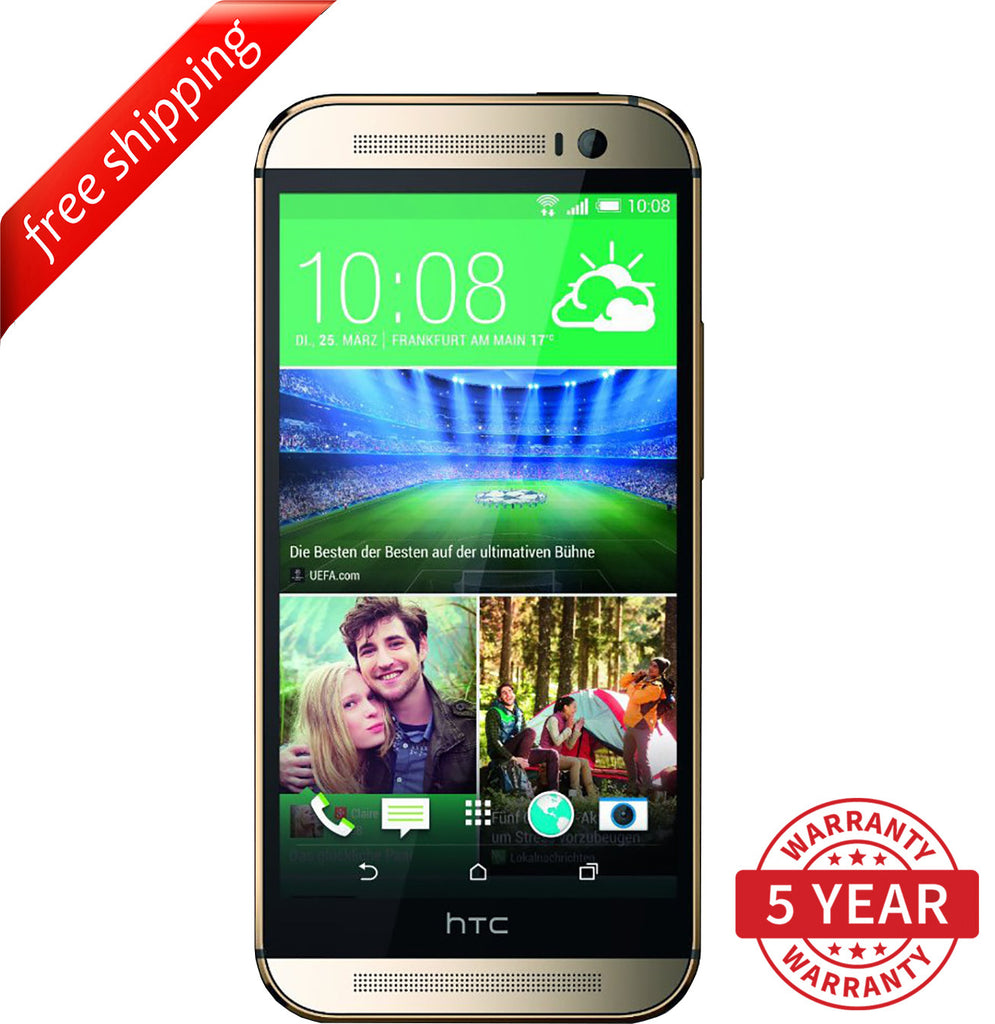 Original HTC ONE M8 4G LTE Factory UNLOCKED Gold (16GB/32GB) - Refurbished