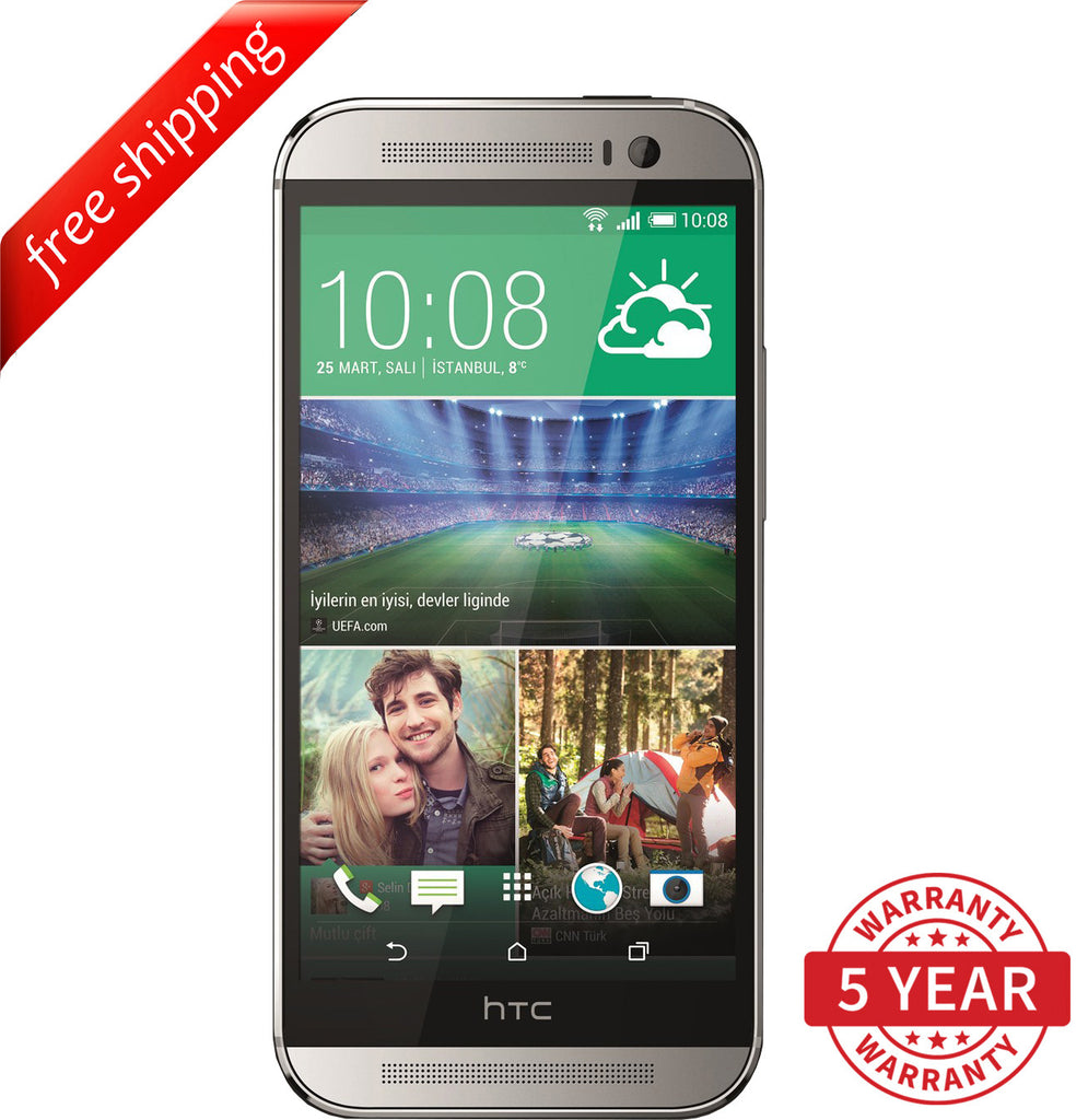 Original HTC ONE M8 4G LTE Factory UNLOCKED Silver (16GB/32GB) - Refurbished