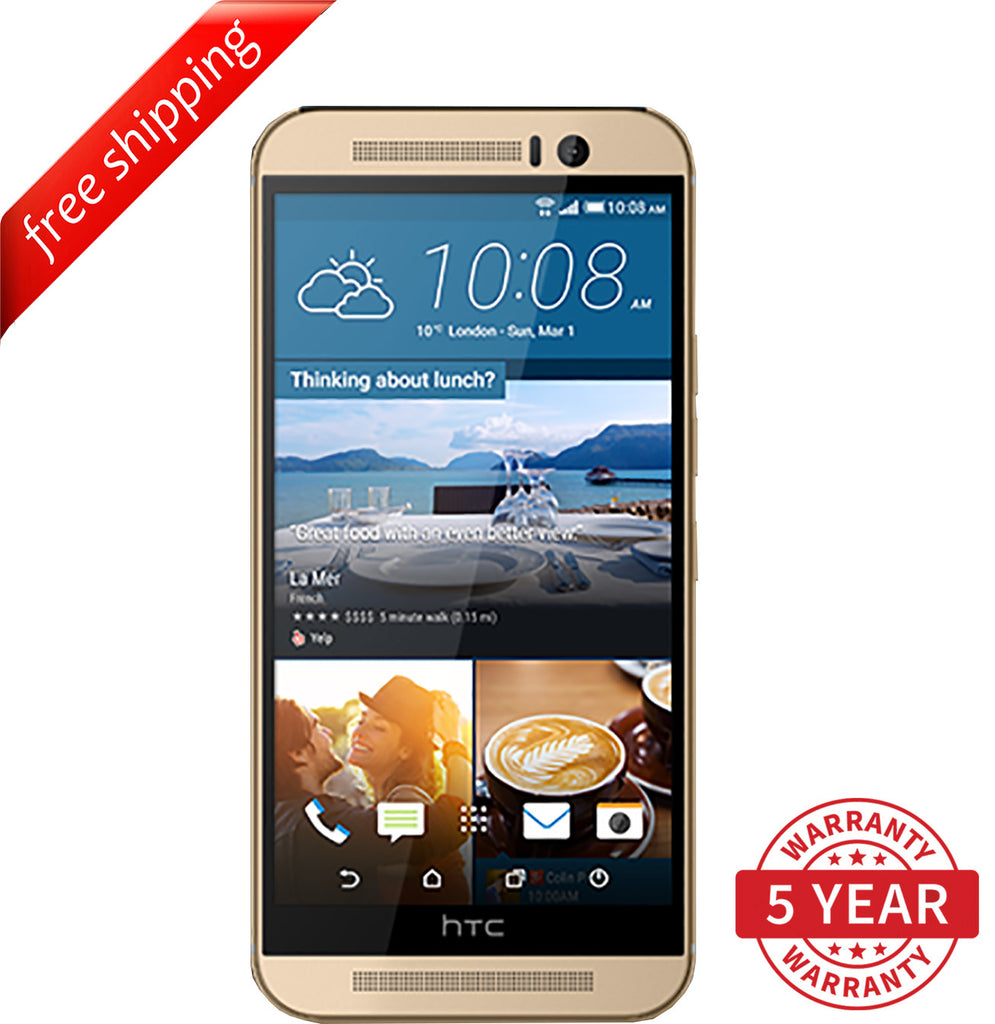 Original HTC ONE M9 4G LTE Factory UNLOCKED Gold (32GB) - Refurbished