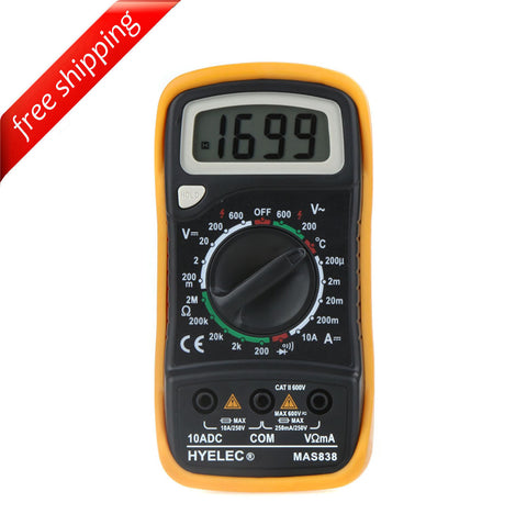 HYELEC MAS838 Multifunction Mini Digital Multimeter/Temperature Test