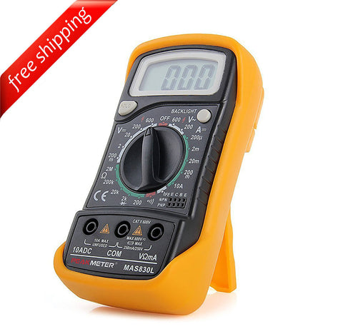 HYELEC MAS830L Portable Digital Multimeter DC Current Resistance AC/DC Voltage Tester w/ Backlight