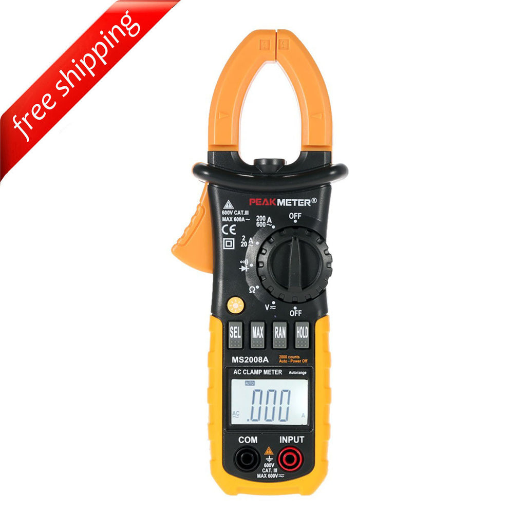 HYELEC MS2008A Digital AC Clamp Meter 2000 Counts w/ Back light