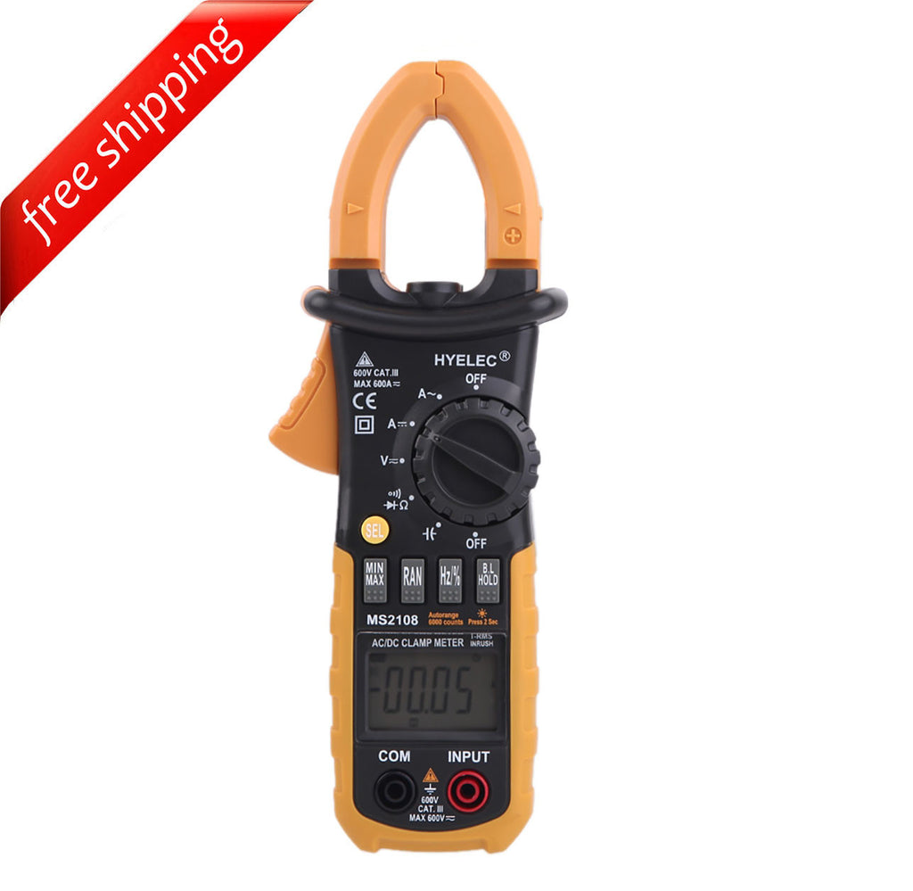 HYELEC MS2108 Digital Clamp Meter w/ Backlight