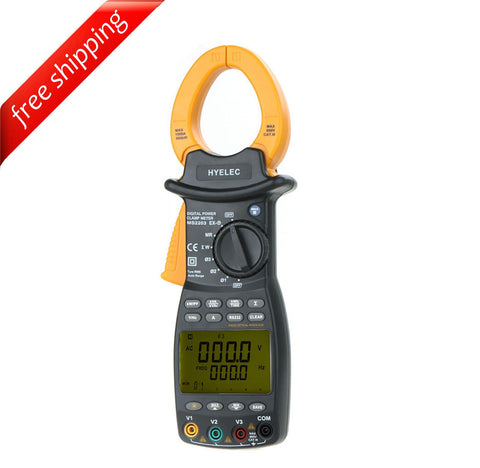 HYELEC MS2203 3-Phase Clamp Meter Power Factor Correction USB True-RMS 4 Wire Testing