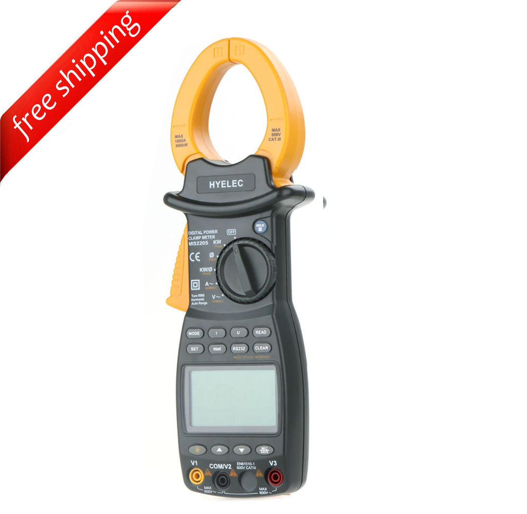 HYELEC MS2205 Clamp Meter AC RMS Active Power Factor Passive Frequency Harmonic Test