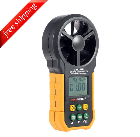 HYELEC MS6252B Multifunction Digital Anemometer/Air Volume/Temperatur/Humidity