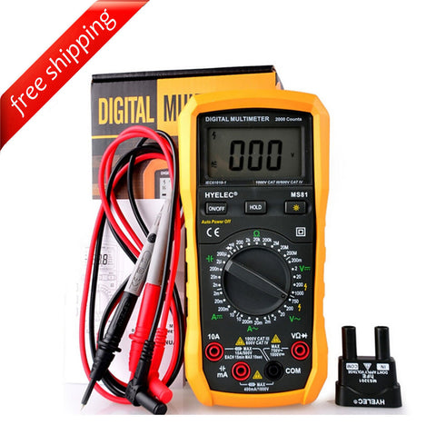 HYELEC MS81 DMM Digital Multimeters Capacitance Tester Voltage multimeter w/ Back light