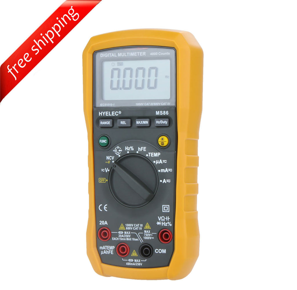 HYELEC MS86 Multifunction Digital Multimeter/Auto and Manual Range/Temperature Test/Relative