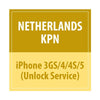 Netherlands KPN iPhone 3GS/4/4S/5 Unlock Service - Delivery Time : 1-72 Hours