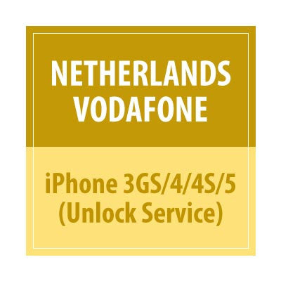 Netherlands Vodafone iPhone 3GS/4/4S/5 Unlock Service - Delivery Time : 1-5 Days