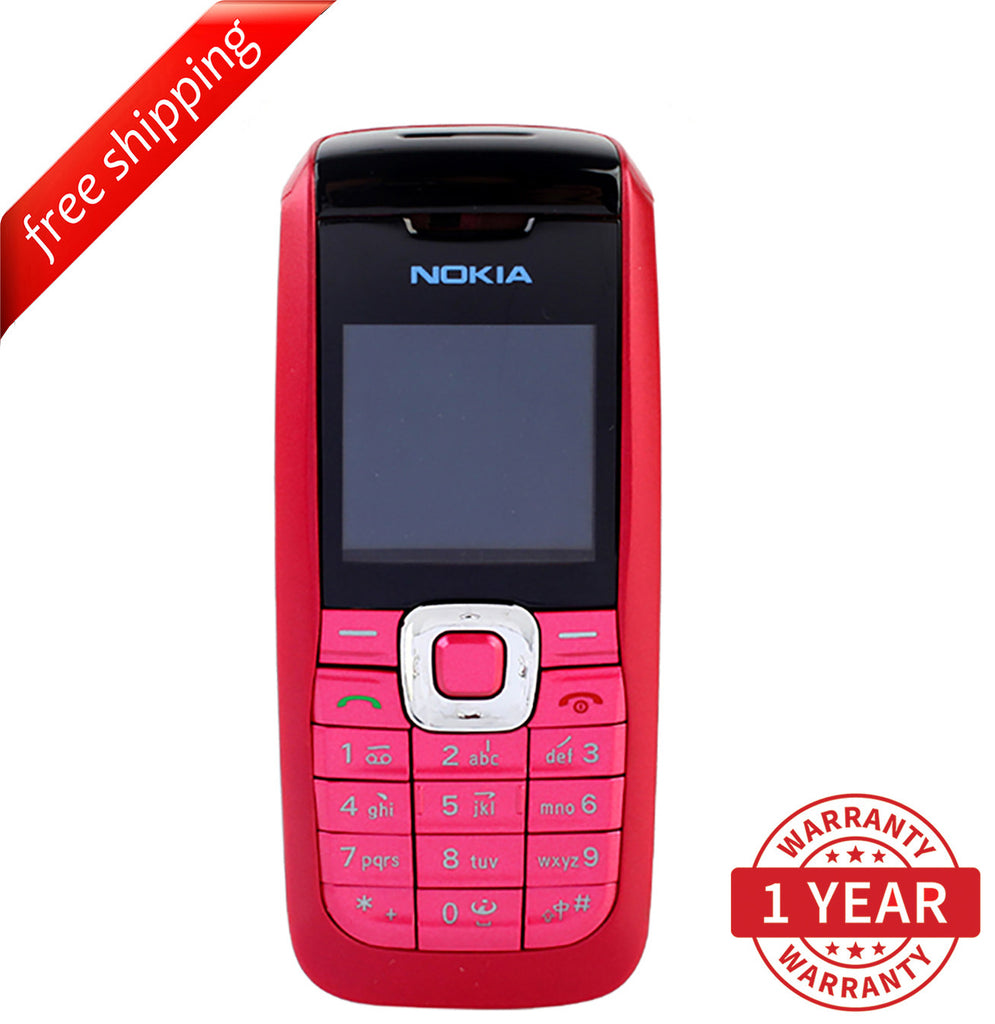 "Original Nokia 2610 GSM 1.6"" TFT LCD (English, Russian & Arabic) Red - Refurbished"