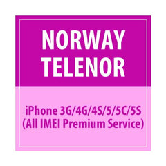 Norway Telenor iPhone 3G/4G/4S/5/5C/5S All IMEI Premium Service