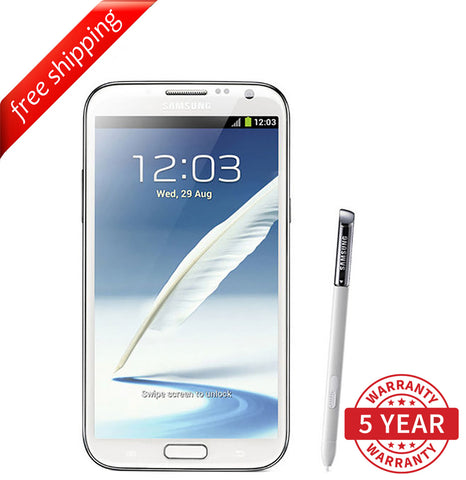Original Samsung Galaxy NOTE 2 II N7100 Factory Unlocked White (16GB) - Refurbished
