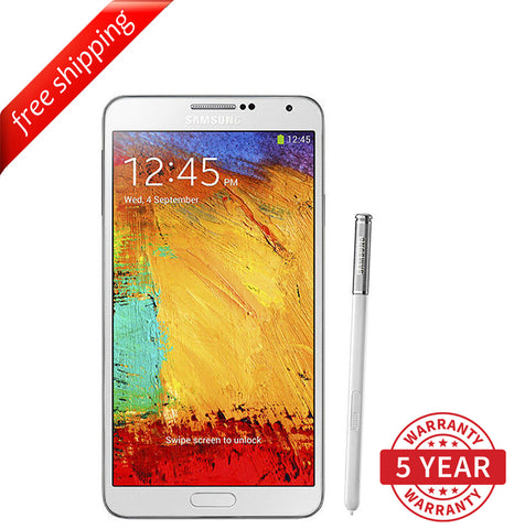 Original Samsung Galaxy Note 3 Black SM-N9005 Factory Unlocked White (32GB) - Refurbished