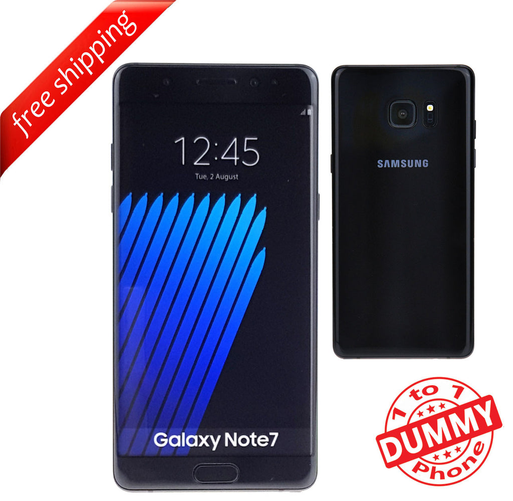 1:1 Non Working Dummy Shop Display Toy Model Mobile Samsung note 7 - Black