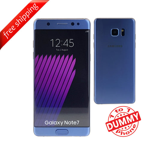 1:1 Non Working Dummy Shop Display Toy Model Mobile Samsung note 7 - Blue
