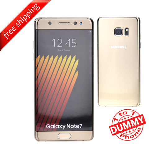 1:1 Non Working Dummy Shop Display Toy Model Mobile Samsung note 7 - Gold