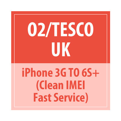 O2 UK Tesco UK iPhone 3G To 7Plus Clean Imei Fast service - Delivery Time : 7 days