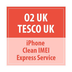 O2 UK Tesco UK IPhone Clean Imei Express Service - Delivery Time : 72 Hours