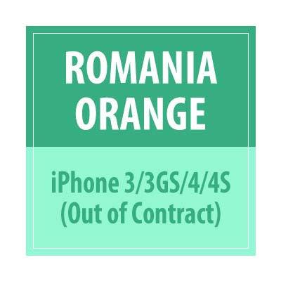 Romania Orange iPhone 3/3GS/4/4S Out Of Contract - Delivery Time : 72 Hours