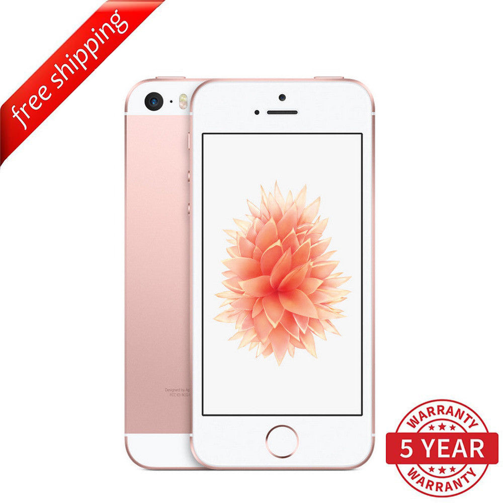 Original Apple iPhone SE 4G LTE GSM Factory Unlocked Rose Gold (16GB/64GB) - Refurbished