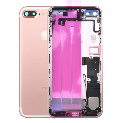 Back Housing Replacement Battery Case Cover Rear Frame with Spare Parts For iPhone 7 Plus - Rose Gold