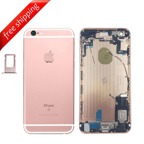 Back Housing Replacement Battery Cover Rear Frame With Spare Parts For iPhone 6s Plus - RoseGold