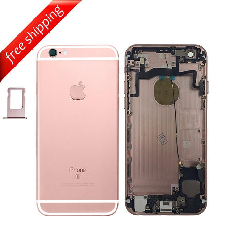 Back Housing Replacement Battery Case Cover Rear Frame With Spare Parts For iPhone 6s - RoseGold