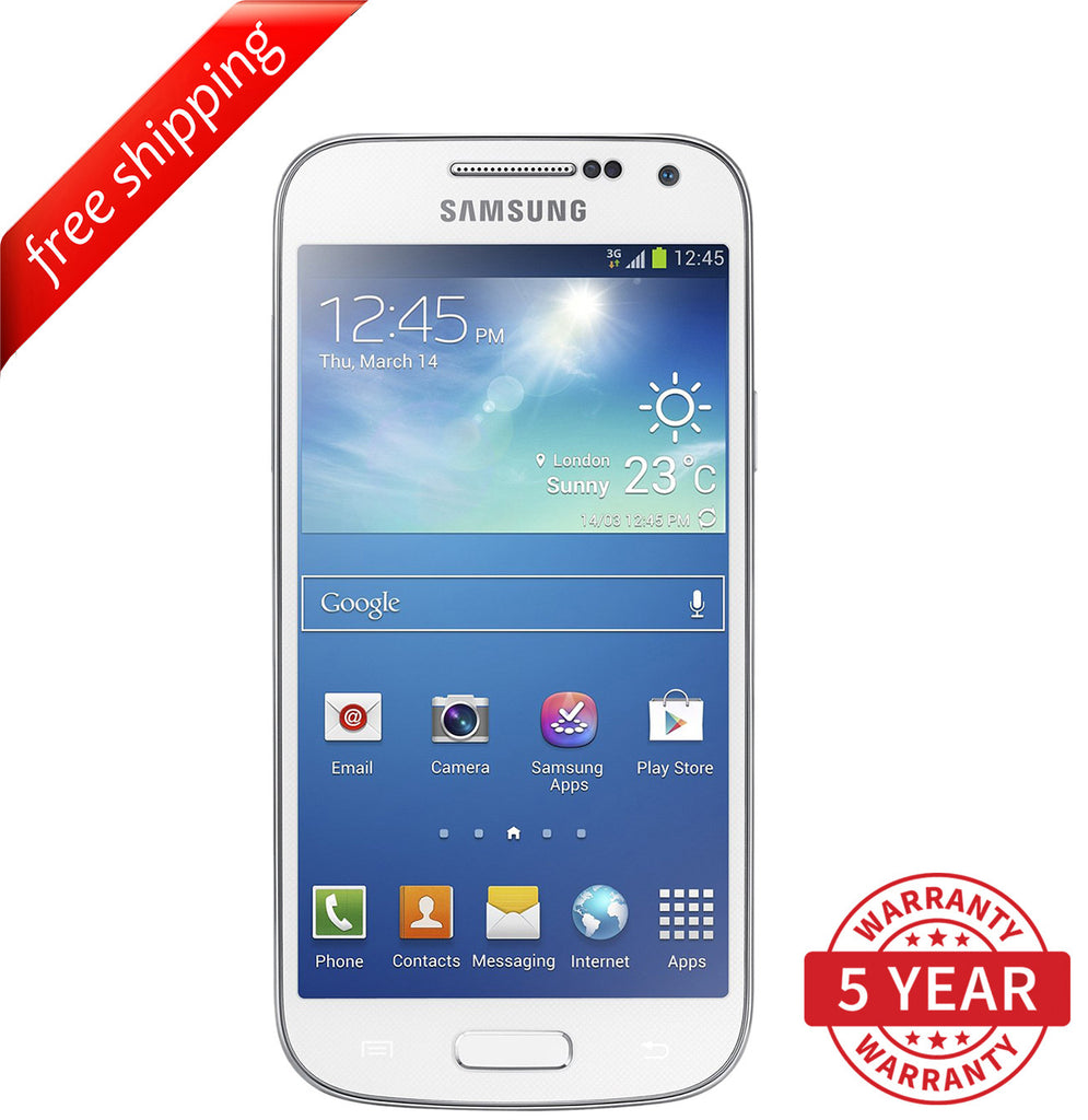 Original Samsung Galaxy S4 Mini i9195 4G/3G Factory Unlocked White (8GB) - Refurbished