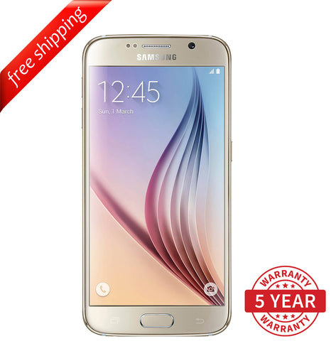 Original Samsung Galaxy S6 SM-G920 4G LTE Factory Unlocked Gold (32GB/64GB) - Refurbished
