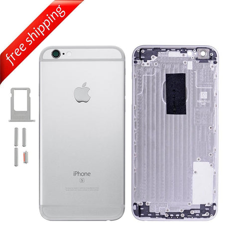 Back Housing Replacement Battery Case Cover Rear Frame For iPhone 6s Plus - Silver