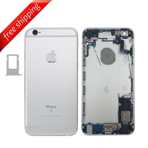 Back Housing Replacement Battery Case Cover Rear Frame With SpareParts For iPhone 6s Plus - Silver