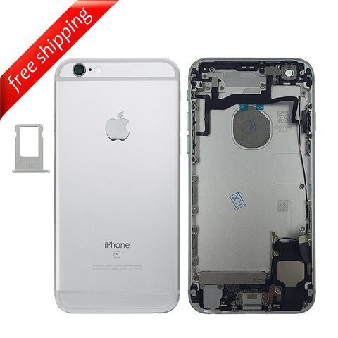 Back Housing Replacement Battery Case Cover Rear Frame With Small Spare Parts For iPhone 6s - Silver