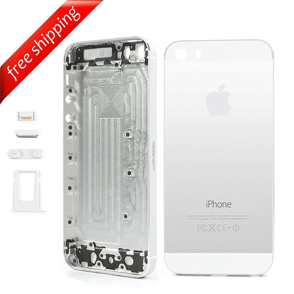 Back Housing Replacement Battery Case Cover Rear Frame For iPhone 5s - Silver