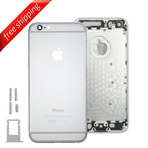 Back Housing Replacement Battery Case Cover Rear Frame For iPhone 6 Plus - Silver