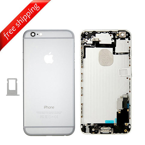 Back Housing Replacement Battery Case Cover Rear Frame With Spare Parts For iPhone 6 Plus - Silver
