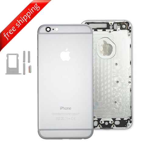Back Housing Replacement Battery Case Cover Rear Frame For iPhone 6 - Silver