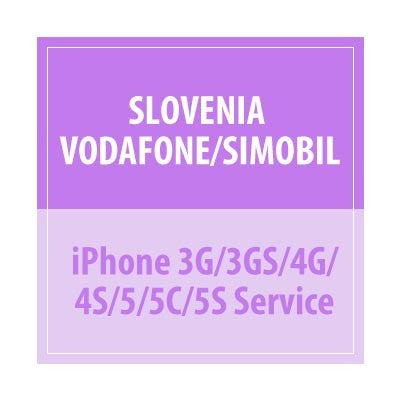 Slovenia Vodafone/Simobil iPhone 3G/3GS/4G/4S/5/5C/5S Service - Delivery Time : 5 days