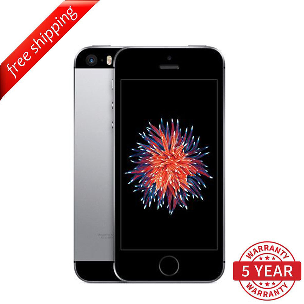 Original Apple iPhone SE 4G LTE GSM Factory Unlocked Space Gray (16GB/64GB) - Refurbished