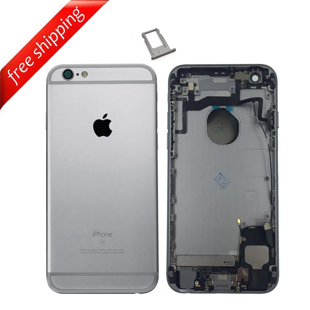 Back Housing Replacement Battery Case Cover Rear Frame With Spare Parts For iPhone 6s - Grey